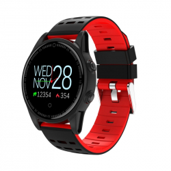 Montre Connectée iOS iPhone Android Écran Couleur OLED 2.5D Lentille Bluetooth Rouge