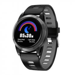 Montre Connectée iPhone Android Smartwatch Étanche Écran Tactile IPS 1.3 Pouce 2.5D Bluetooth Noir - Montre connectée sport -...