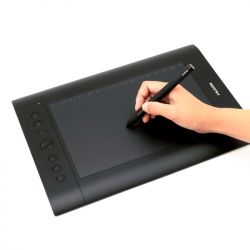 Tablette Graphique Windows Mac OS USB Pour Dessin 5080 LPI Stylo Rechargeable Noir - Tablette graphique - www.yonis-shop.com