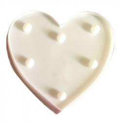 Lampe Décorative Forme de Cœur LED 50000 Heures Pour Fête Mariage Pièce Intérieure Magasin Cadeau Blanc
