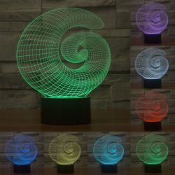 Lampe 3D Originale Style Abstrait 7 Couleurs LED Tactile 0.5W Pour Chambre Salon Hall Couloir - Lampe 3D - www.yonis-shop.com