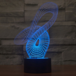 Lampe De Décoration 3D Design Art LED 7 Couleurs Tactile 0.5W Pour Chambre Salon Hall Couloir - Lampe 3D - www.yonis-shop.com