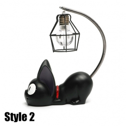 LED Night Light C résine créative Cat Animal Night Light Ornements Décoration Cadeau Décoration Petit Chat Pépinière Lampe St...