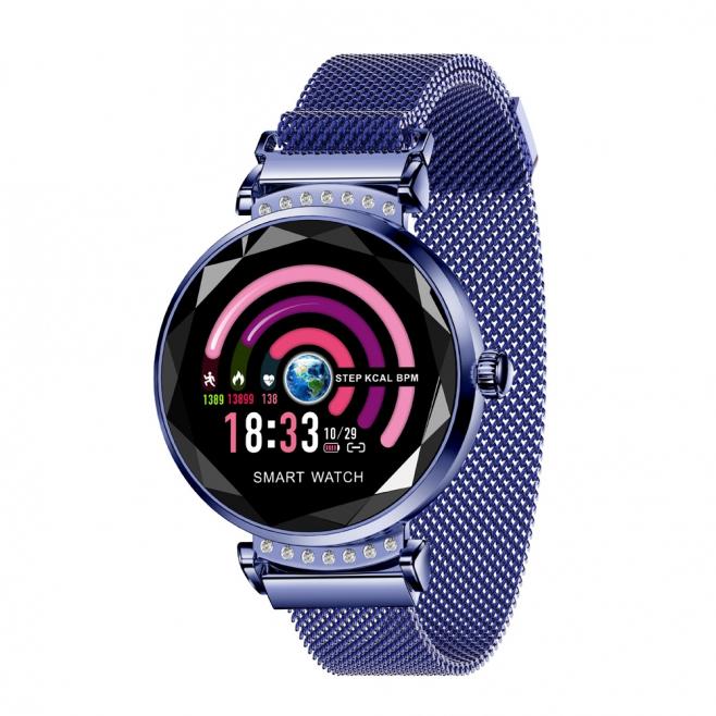 Montre Connectée pour Femmes Smartwatch iOS Android Écran Couleur IPS 1.04 Pouce Bluetooth Étanche Bleu - Montre connectée fe...