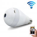 Ampoule Caméra IP Panoramique 360 Degrés Full HD Connectée Android iOS Surveillance E27 Wifi LED - Camera IP - www.yonis-shop...