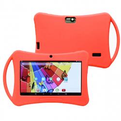Housse tablette 7 pouces Silicone Universelle Etui Renforcé Rouge
