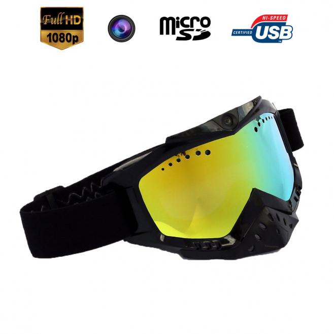Lunettes caméra sport embarquée masque de ski HD 1080P Noir - Lunettes camera sport - www.yonis-shop.com