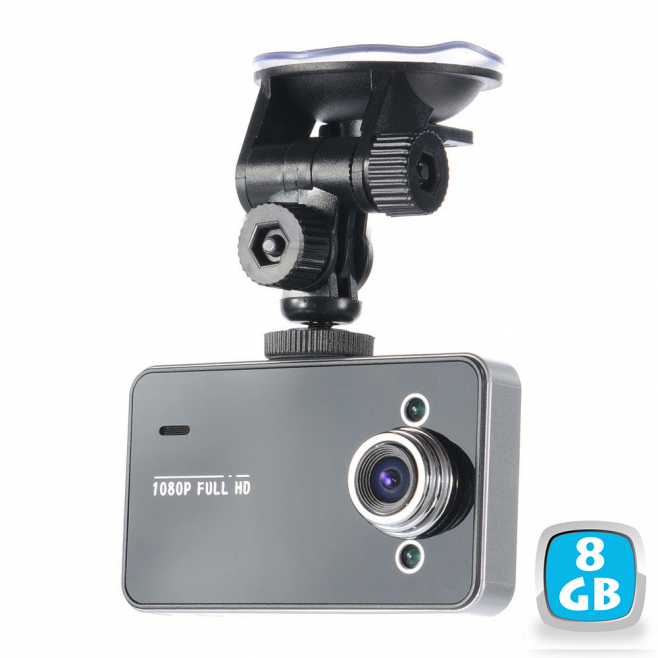 Caméra embarquée auto 1080p vision nocturne écran 2.7 pouces 8Go noir - Caméra Boite noire - www.yonis-shop.com