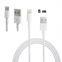 Cable USB iPhone 5 lightning chargeur 5 mètres - Chargeur iPhone - www.yonis-shop.com