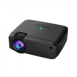 D40W 1600 Lumens Portable Home Theater LED HD Digital Projector, Mirroring Version (Black) - Videoprojecteur LED - www.yonis-...