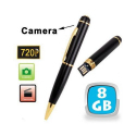 Stylo camera espion HD 720p mini appareil photo USB Noir et Or 8 Go - Stylo espion - www.yonis-shop.com