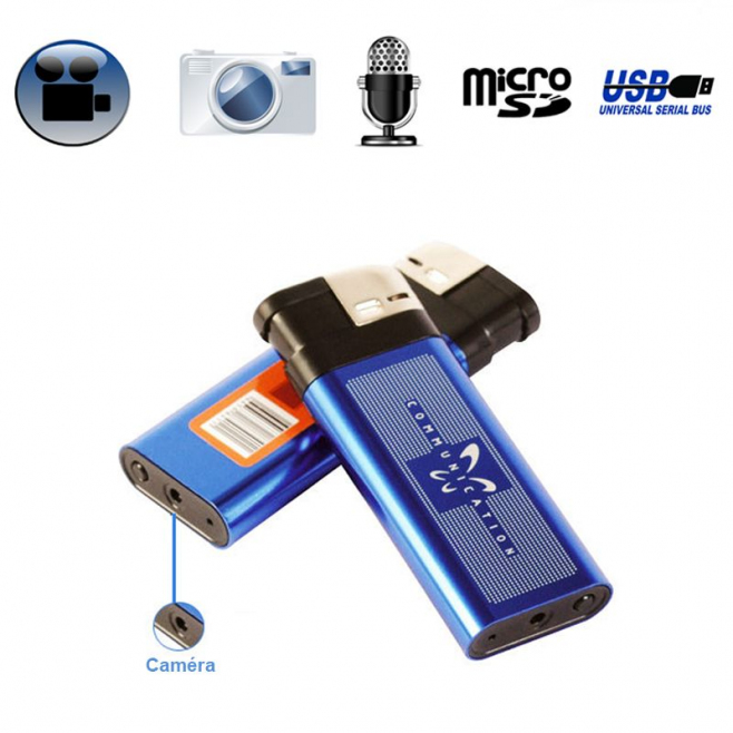 Briquet camera espion appareil photo enregistrement sonore USB - Briquet caméra - www.yonis-shop.com