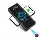 Batterie Caméra Espion Full HD 1080p Powerbank Qi Vision IR Discrète Détection de Mouvement Noir - Autres caméras espion - ww...