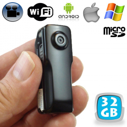 Mini camera espion WiFi android iPhone babycam vidéo Micro SD USB 32Go