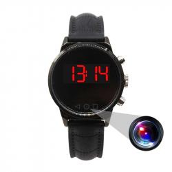 Montre Caméra Espion Vidéo Photo Full HD 1080P Vidéosurveillance Détection Mouvement 128Go Silicone - Montre espion - www.yon...
