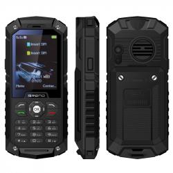 Téléphone Incassable 2.4 Pouces Double SIM Portable Antichoc Chantier Étanche IP68 LED FM TF Noir - Téléphone incassable - ww...