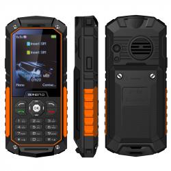 Téléphone Incassable 2.4 Pouces Double SIM Portable Antichoc Chantier Étanche IP68 LED FM TF Orange - Téléphone incassable - ...