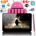 Tablette Tactile Android 4.4 KitKat Quad Core Tablette 5000 mAh 2MP 40 Go Bluetooth WiFi Rose
