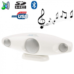 Enceinte Bluetooth portable design Jack USB carte SD blanc - Enceinte Bluetooth - www.yonis-shop.com