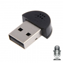Mini microphone USB 2.0 PC portable Mac tablette sans fil noir - Microphone PC - www.yonis-shop.com