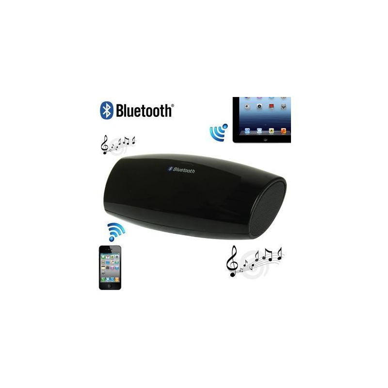 enceinte bluetooth universelle portable noir. Black Bedroom Furniture Sets. Home Design Ideas