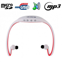 Casque sport sans fil lecteur MP3 audio Running vélo Micro SD Rouge - Casque sport - www.yonis-shop.com
