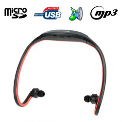 Casque MP3 sport lecteur audio sans fil Micro SD Running vélo Rouge - Casque sport - www.yonis-shop.com