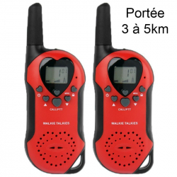 Set Talkie walkie push to talk portée 3-5 km écran LCD 8 canaux Rouge - Talkie-walkie - www.yonis-shop.com