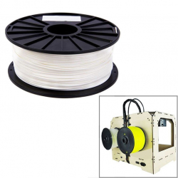 Bobine de fil PLA 1.75 mm biodégradable imprimante 3D filament Blanc