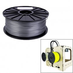 Bobine de fil PLA 1.75 mm biodégradable imprimante 3D filament Argent