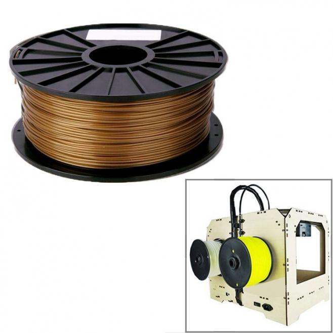 Bobine de fil PLA 1.75 mm biodégradable imprimante 3D filament Or - Consommable imprimante 3D - www.yonis-shop.com