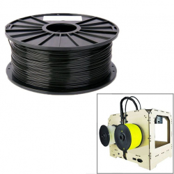 Bobine de fil PLA 1.75 mm biodégradable imprimante 3D filament Noir