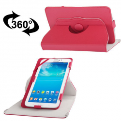 Housse universelle 7 pouces support tablette tactile étui 360° Rouge