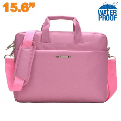 Sacoche ordinateur portable 15 - 15.6 pouces étui PC waterproof Rose - Sacoche ordinateur portable - www.yonis-shop.com