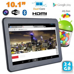 Tablette tactile Android 4.2 10 pouces Dual Core Bluetooth 24 Go
