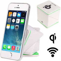 Chargeur Qi sans fil support voiture smartphone holder auto Blanc