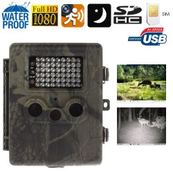 Caméra chasse gibier GSM Full HD 1080P infrarouge détection mouvement Batterie