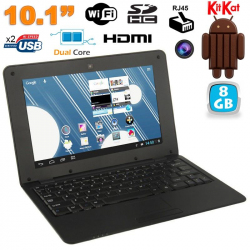 Mini PC Android 4.4 Netbook Ultra portable 10 pouces WiFi 8Go Noir - Netbook Android - www.yonis-shop.com
