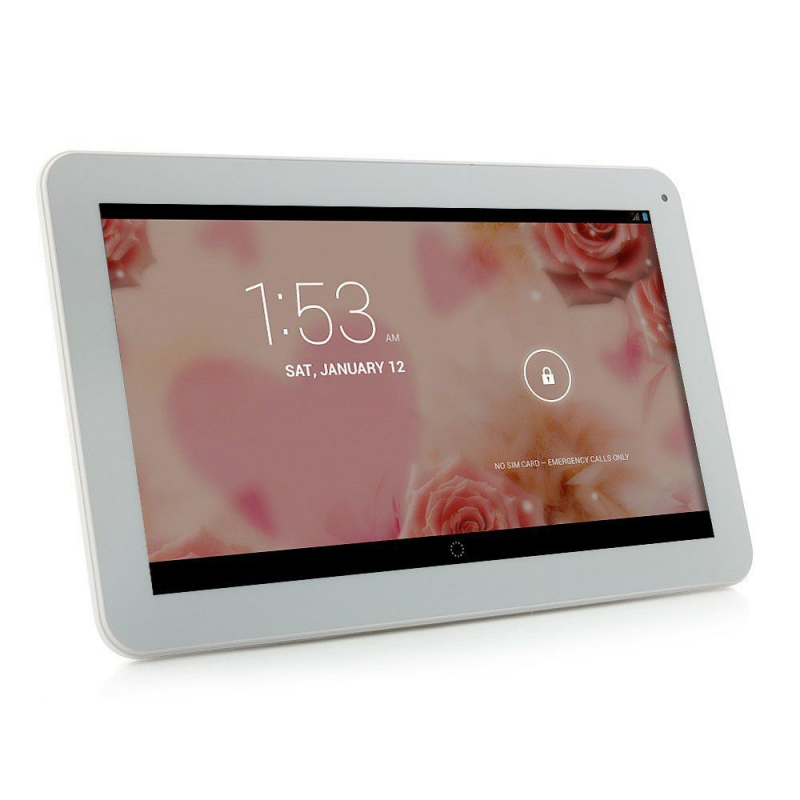 tablette tactile 10 pouces 3g double sim quad core wifi gps 48go blanc. Black Bedroom Furniture Sets. Home Design Ideas
