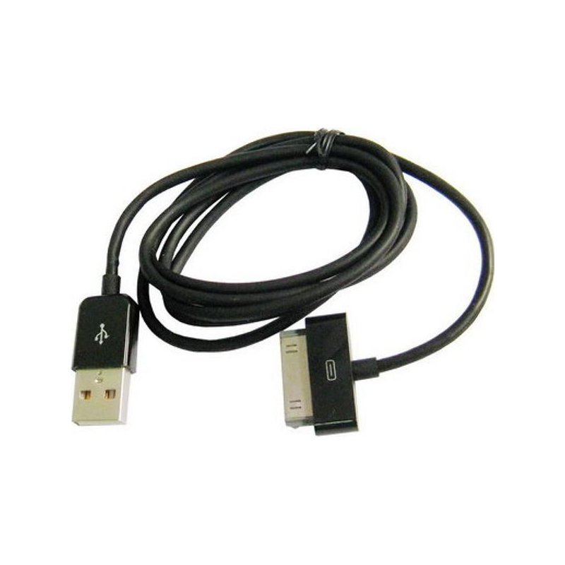 cable usb pour iphone 4 4s 3g 3gs ipad 1 2 3 ipod touch noir. Black Bedroom Furniture Sets. Home Design Ideas
