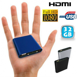 Mini passerelle multimédia Full HD 1080p HDMI USB SD disque dur 32 Go