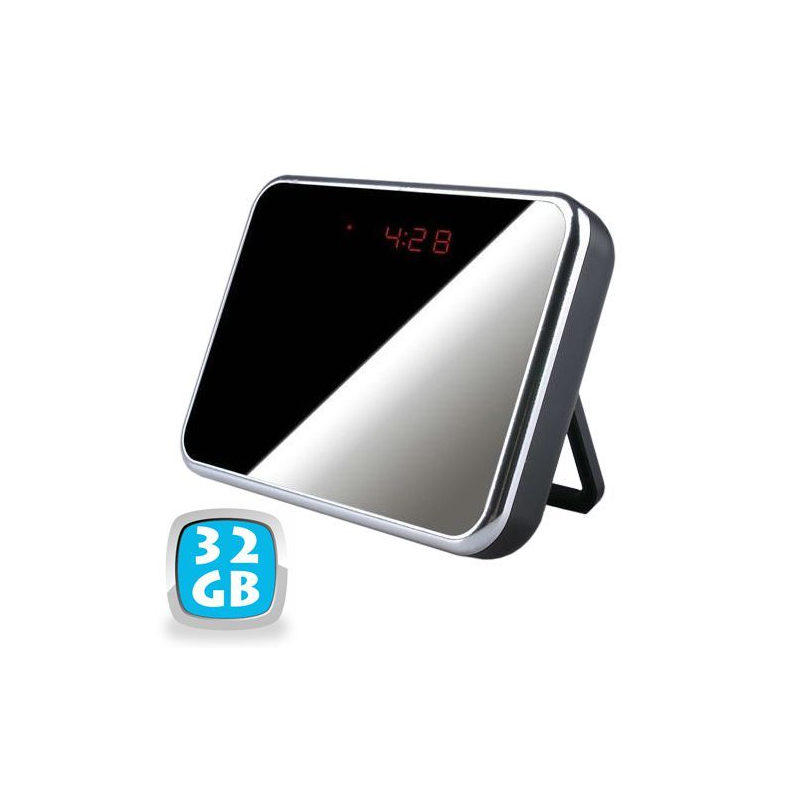 r veil camera espion miroir d tecteur de mouvement usb micro sd 32 go. Black Bedroom Furniture Sets. Home Design Ideas