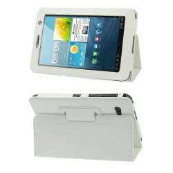 Housse Samsung Galaxy Tab 2 GT P3100 7 pouces support cuir blanc