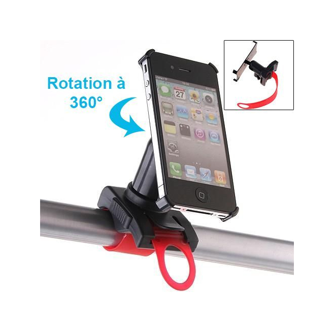 Support 360° vélo iPhone 4 4S holder moto VTT - Autres accessoires iPhone - www.yonis-shop.com