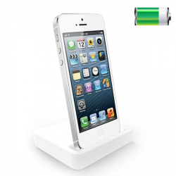 Station d'accueil dock de synchronisation chargeur iPhone 5 Blanc