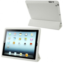 Smart cover intégrale new iPad 4 retina housse coque blanc quadrillé - Smart cover iPad - www.yonis-shop.com