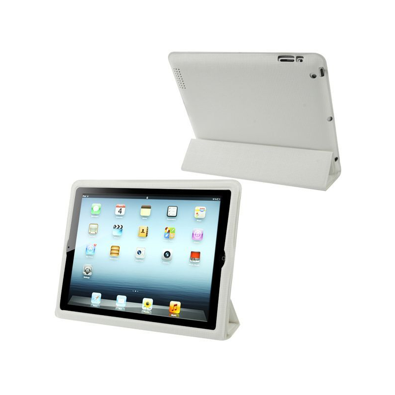 Smart cover int grale new ipad 4 retina housse coque blanc for Housse ipad 4