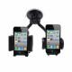 Double support universel voiture iPhone Smartphone GPS MP4 Holder - Support auto - www.yonis-shop.com