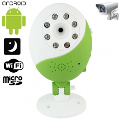 Caméra WIFI Babycam vision nocturne Android iPhone support Vert - Camera bébé - www.yonis-shop.com
