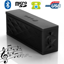 Mini enceinte Bluetooth portable stereo smartphone tablette Noir